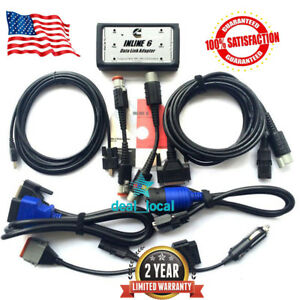 Inline 6 Data Link Adapter Full 8 Cable Heavy Duty Diagnostic Scanner Tool