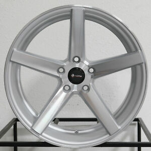 4 New 18 Vors Tr5 Wheels 18x8 5 18x9 5 5x114 3 35 35 Silver Staggered Rims