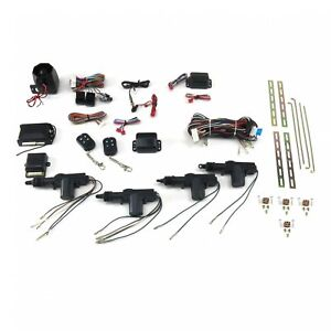 4 Door Power Lock Kit With Alarm Autoloc Autca4000 Street Custom Truck Muscle