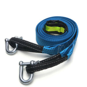 8 Tons 5m Nylon Car Van Tow Rope Hook Heavy Duty Road Recovery Pull Towing Strap