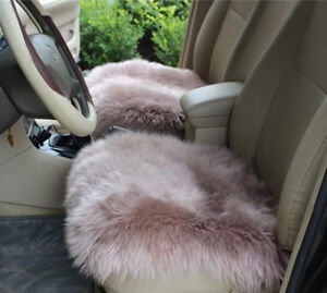 Real Australia Sheepskin Long Wool Hair Sofa Front Rear Car Seat Covers Winter