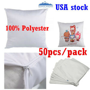 Usa 41 X 41cm Plain White Sublimation Blank Pillow Case Fashion Cushion Cover
