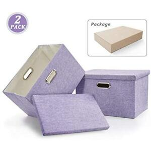 File Storage Boxes Box Collapsible Decorative Linen Filing Storage Portable