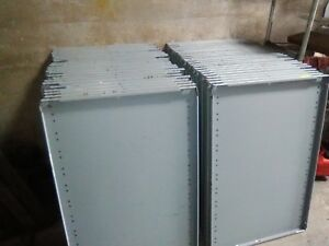 Used Gray Metal Shelving Posts And Hardware Clips