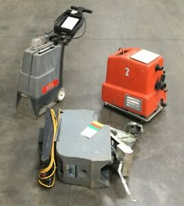 Lot Of 3 Floor Washing Scrubbing Cleaning Machines For Parts Or Repair