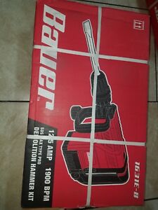 Bauer 1631e b 12 5 Amp Sds Max Type Pro Demolition Hammer Kit New
