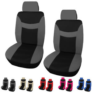 Universal 2 Front Car Seat Cover Head Rest Breathable Protector For Auto Cushion