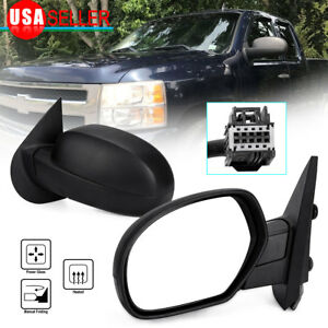 Driver Left Side Mirror For 2007 2013 Chevy Silverado Gmc Sierra Power Heated