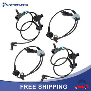 4pc Front rear Abs Wheel Speed Sensor For 07 12 Chevy Avalanche Tahoe Gmc Yukon