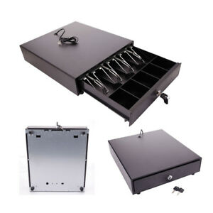 Cash Drawer Box Works Compatible Epson Pos Printers 4bill 5coin Tray star New