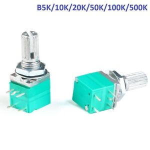 Rv097ns Linear Mono Audio amplifier Potentiometer 5 pin With Switch B5k To 500k