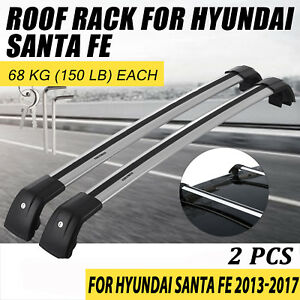 For Hyundai Santa Fe Sport 2013 17 Luggage Top Roof Rack Rail Cross Bar