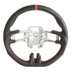 Handkraftd 2015 2017 Ford Mustang Steering Wheel Leather W Red Stitching
