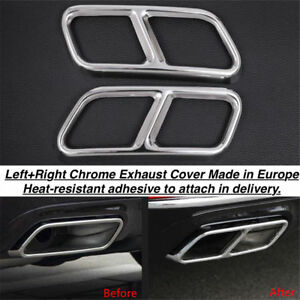 Chrome Rear Cylinder Exhaust Pipe Cover Trim Mercedes S Class A217 Converti Us