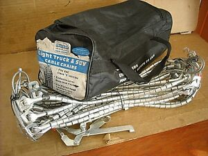 3027 Laclede Light Truck Suv Cable Tire Snow Chains Never Used In Original Bag