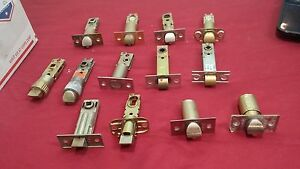 Assorted Deadlatches Bolts Set Of 13 Us Lock Weiser S Parker Locksmith