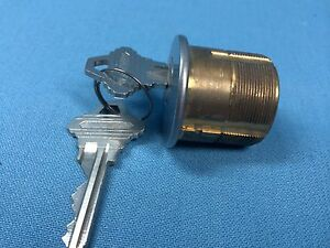 Mortise Cylinder 1 1 4 In Chrome With Keys E Keyway Locksmith