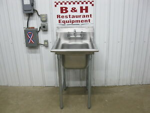 Eagle 23 X 27 Stainless Steel Commercial 1 One Bowl Utility Prep Sink