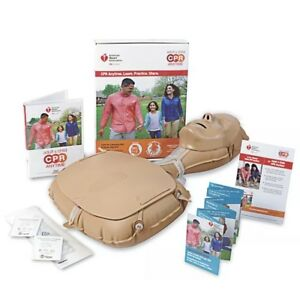 Adult Child Cpr Anytime Kit Manikin Bilingual Instructions Dvd Mini Anne
