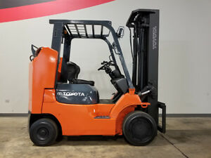 2012 Toyota 7fgcu35 bcs 8000lb Smooth Cushion Forklift Lpg Lift Truck Hi Lo