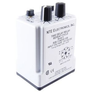 Nte Electronics R27 11ad10 12 Relay Repeat Cycle Time Delay Dpdt 10amp 12v Ac dc
