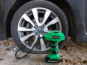 18v Cordless Tire Air Inflator Portable Compact Rechargeable Power Compressor