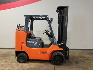 2012 Toyota 7fgcu45 bcs 10000lb Smooth Cushion Forklift Lpg Lift Truck Hi Lo