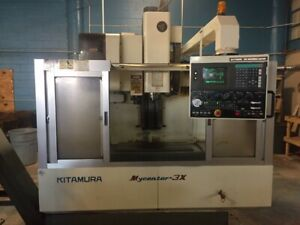 Used Kitimura Mycenter 3x Cnc Vertical Machining Center Mill 10k Rpm Ct 40 1997