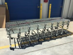 Nestaflex 275 24 Ft Portable Flexible Expandable Rolling Roller Conveyor System