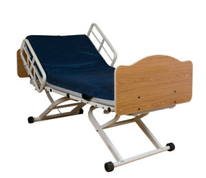 Joerns Full Electric Fall Management Hospital Bed Includes New Medical Mattress