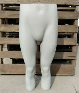 Used Mn ll Male Grey Pants Mannequin Leg Display For Board Shorts Underwear