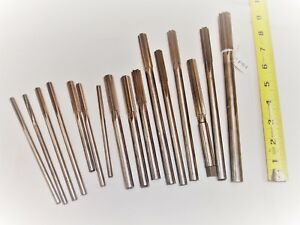 Lot Of 16 Machinist Chucking Reamers Various Sizes From 1 4 To 25 32 Diam