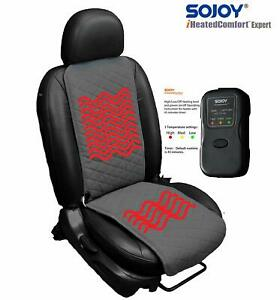 Sojoy Heated Car Seat Cover Car Seat Heater High Low Heat 45 Min Timer Switch