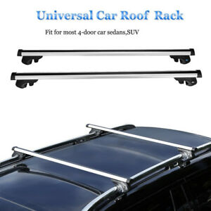 48 Aluminum Car Top Luggage Roof Rack Cross Bar Carrier Adjustable Frame 220lbs