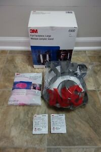 Genuine 3m Full Face Large Respirator 6900 Bonus Filters And Cleaning Kit