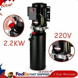 3 Hp Car Lift Hydraulic Power Unit Adjustable 50 Hz Ac Motor For Tow Trucks