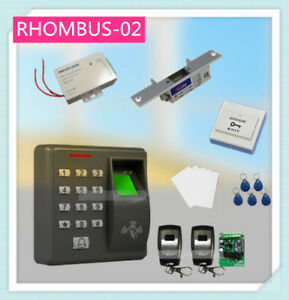Rfid Card Reader Access Control System Kit And Fingerprint With Strike Door Lock
