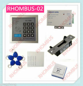 Access Control System W blot Electronic Lock power Supply exit Button 10 Em Card