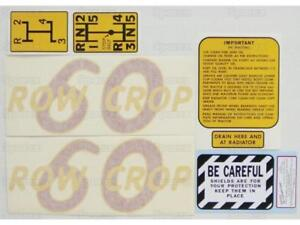 Oliver 60 Row Crop Tractor Complete Decal Set Die cut Vinyl Label transfers Kit