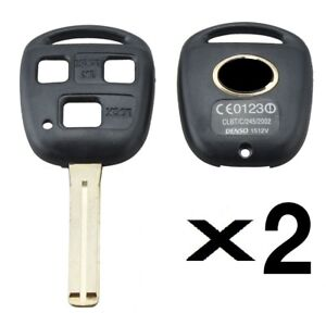 2 New Lexus 3 Button Short Shell Blade Key Blank High Quality With Logo