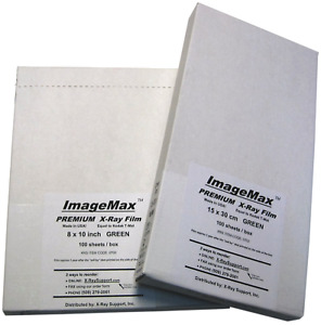 Imagemax Premium 8x10 Green Dental X ray Film 100 Sheets Per Box
