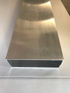 Mill Finish Aluminum Rectangle Tube Wall Tubing 8 X 3 X 1 8 X 12