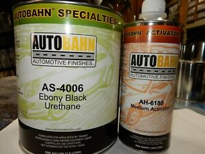 Gloss Black As 4006 1 Gal 2k Urethane Single Stage Car Motorcycle Auto Paint Kit