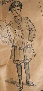Antique Sewing Pattern Children Russian Boy Mccall 2475 Circa 1900 Rare
