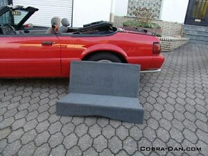 Mustang Convertible Rear Seat Delete Kit 1983 1993 Black Or Grey Fit Gt Or Lx