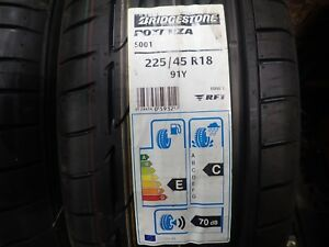 2 New 225 45 18 91y Bridgestone Potenza S001 Rft Tires 4616