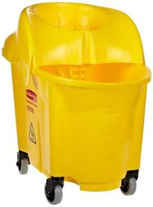 New Rubbermaid 7590 88 Wavebrake Mop Bucket With Down Press Wringer