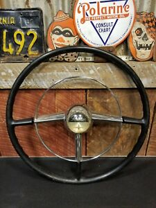 1949 1950 Pontiac Steering Wheel With Horn Ring Horn Button Used Oem