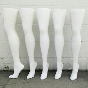 Mn aa5 47 5 Pcs Used 28 75 White Freestanding Hip High Hosiery Leg Displays