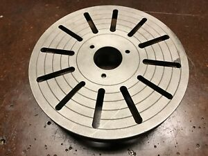 12 Inch Cast Iron Face Plate For A Lathe Cam lock Direct Mount Great Condition